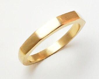 Pentagon Ring Gold 14K (yellow, rose or white)