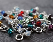Swarovski Crystal Birthstone Charm in Sterling Silver or Gold Filled - EWD Extras and Add Ons