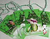 Christmas Tags - Set of 7 Handmade Animal Christmas Tags - Perfect Final Touch to Beautiful Christmas Gifts