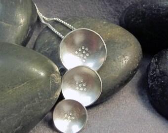 Sterling Silver Triple Pod Floral Modern OOAK Pendant