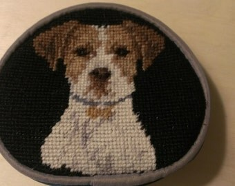 Jack Russell Terrier Needlepoint Change purse Coin Purse