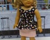 Ice Cream Social - Peplum top and mini skirt for American Girl