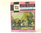 "Vintage 1950's ""Homeward Bound"" 378 Piece Whitman Deluxe Guild Jigsaw Puzzle, Series No. 204"