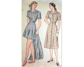 Vintage 1940's Rompers and Skirt Pattern Simplicity 2013, Size 16.5, Bust 35 Inches