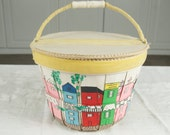 SALE WAS 20 Hand Made and Painted Basket Purse ret