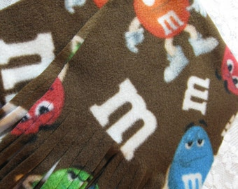 450+ Scarf Prints at SylMarCreations! * M&M's Winter Fleece Scarf