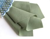 Grey Green Felt, Large Felt Sheet, Choose Size, DIY Craft Supply, 100% Wool, Wool Applique, Felt Patterns