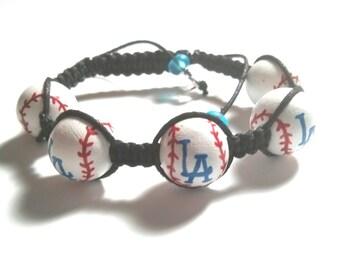 LA Dodgers Inspired Baseball Bracelet