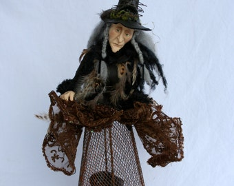 Witch Cage Doll