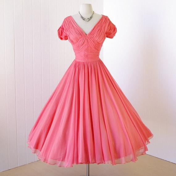 Vintage 1950's Dress ...stunning Old Hollywood FRANK STARR