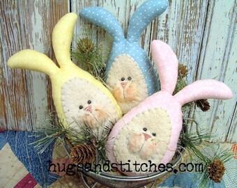 120 - Primitive Homespun Bunny Eggs e-Pattern