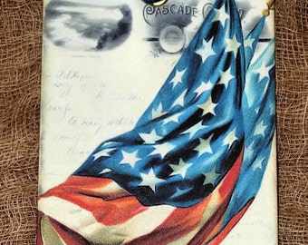 Retro Flag Patriotic Americana Tags #192