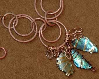 Abalone and Copper Necklace