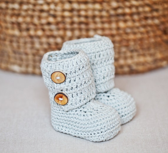 Instant download - Crochet PATTERN for baby booties (pdf file) - Baby Ankle Boots