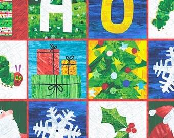 Eric Carle Christmas Fabric The Very Hungry Caterpillar Merry Christmas 1/2 yard