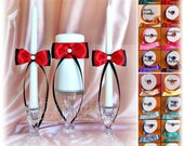 Wedding Ceremony Unity Candle and Tapers Set in Custom Colors - Weddings Ceremony Decor