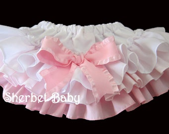 Oh So Sweet Pink & White Sassy Pants Ruffle Diaper Cover
