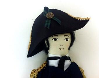 Custom Jane Austen Gentleman Art Doll, Captain Wentworth, Mr. Darcy