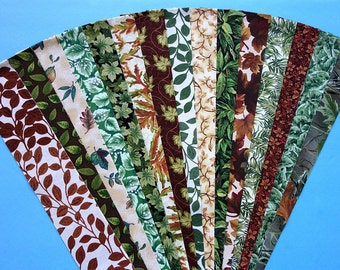 Leaf Fabric Jelly Roll Quilt Strip Pack Cotton Quilting Fabric Die Cut No Dups