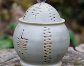 African Inspired Lidded Jar with African trade bead by Bunny Safari