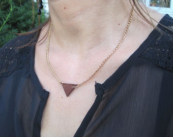 Leather Triangle Necklace