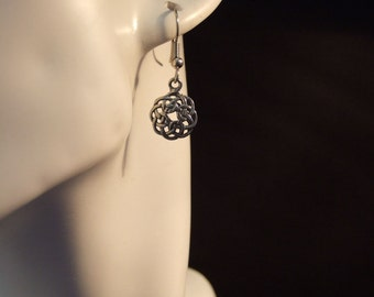 Celtic Knot earings made with Australian Pewter and  Sugical Steel hook
