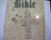 Cross Bookmark Tatted Tan Lace Tatting