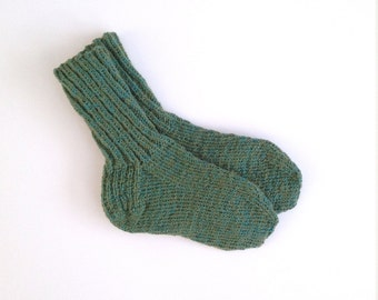 Variegated jade green knit socks US women's size 6 - 8.5