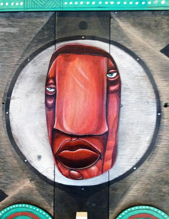 Re-Soul - (Big Red) - Original Mixed Media Assemblage