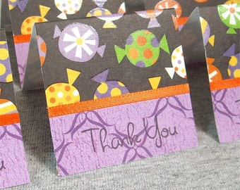 Halloween Candy Mini Thank You Cards 2x2 (6)