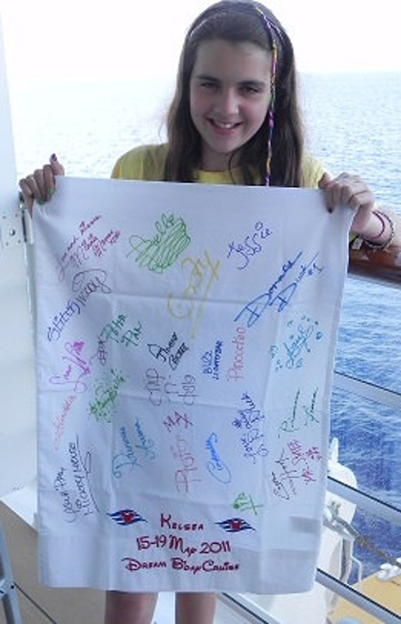 Disney Cruise Line  Signature/Autographed Pillow Case  Personalized