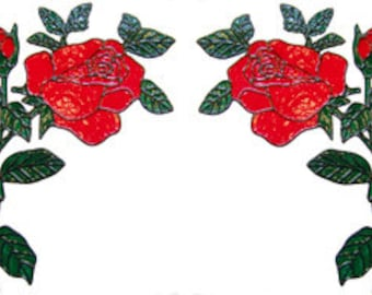 Corner Window Cling Set - Roses