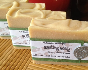 Milky Way Fragrance-Free Goat Milk Organic Artisan Soap