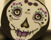 Polymer Clay Cane Sugar Skull