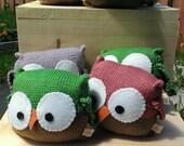 Baby owl toy. Nursery decor-Gift for newborn