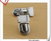 Nickel Purse lock  twist  purse turn lock clutch clock  23mm x 40mm (1 inch x 1.5 inch )   N7