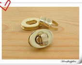 one Pcs 1 inch twist locks, Purse Lock, turn lock light gold N44