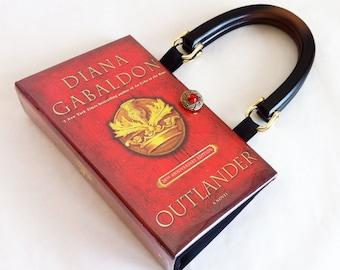 Outlander Recycled Book Purse - Outlander Book Clutch - Outlander Book Cover Handbag