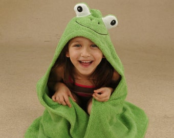 PERSONALIZED Yikes Twins Frog hooded towel