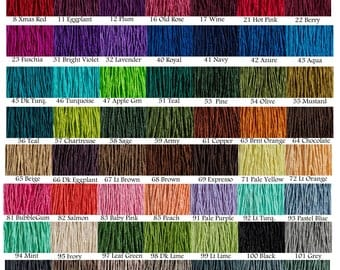 5 ea Silk Strings Hand Dyed Necklace Cord 2mm Silk Strings Pick Your Colors