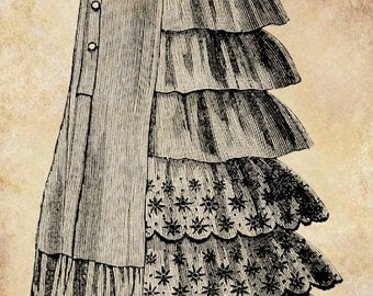 Victorian skirt clip art png file word text Digital graphics Image Download  1800s fashion