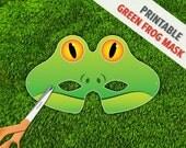 Green Frog Mask | Frog Costume | Halloween Mask | Photo Booth Prop