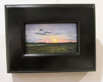Sunset on the Field-  original oil painting