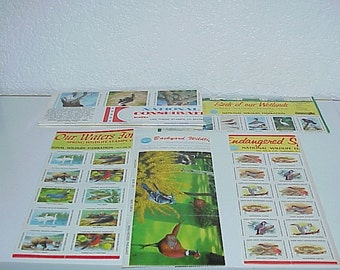 5--Sheets--National Federation--WILDLIFE Stamps--Endangered Species--Save Our Waters--Backyard Wildlife--Conservation--Wetlands