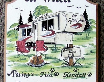 5th Wheel Camping/Welcome SIGN  Personalized   Great GIFT IDEA