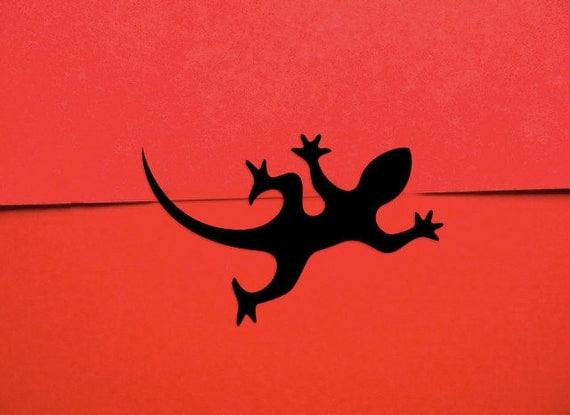 Gecko Stickers - Crawling Lizard / Salamander Gift Wrap Stickers (60 Stickers)