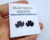 Mustache Earrings - Shrink Plastic Surgical Stainless Steel Post Earrings