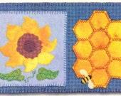 Sunflower - Rug Coffee, Tea or Bee? Mug Rug Series