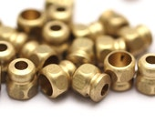 20 pcs Raw Brass Industrial Findings, Spacer Beads (9x8 mm)