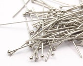 100 Pcs 0.60x25 Mm Nickel Free Ball  Pin, Findings - Bp-025-2   BRC217